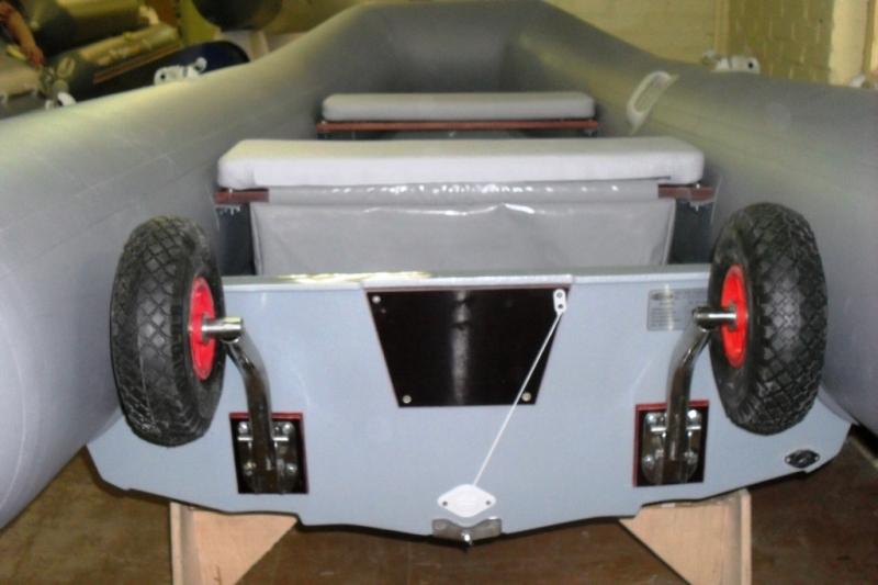 откидные транцевые колеса на лодку пвх